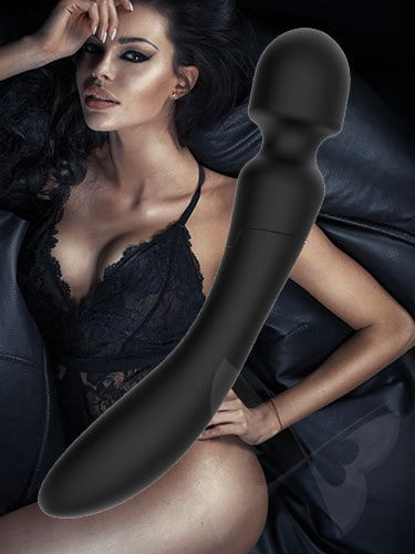 Fare L'Amore Jennifer Dual Ended Body Massage Wand (Black) Feature